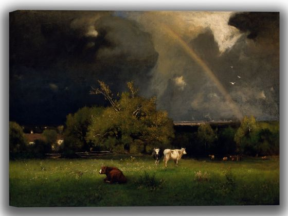 Inness, George: The Rainbow. Fine Art Canvas. Sizes: A4/A3/A2/A1 (004123)